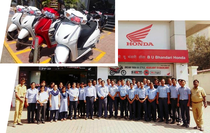 Honda two wheeler Showroom - B.U.Bhandari ,Pune