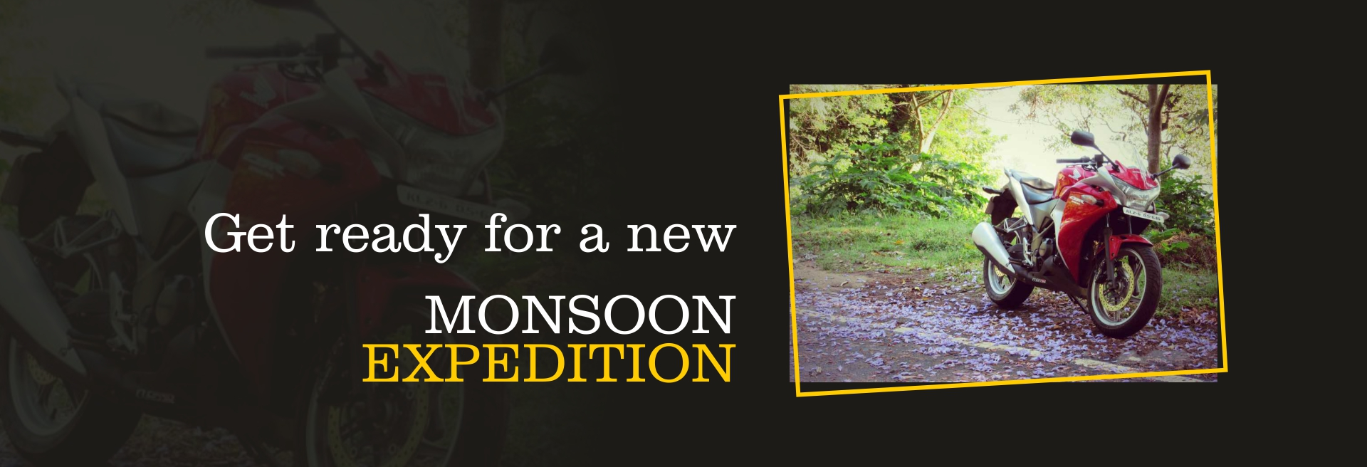 monsoon,honda bike,travel with bike,destination near pune