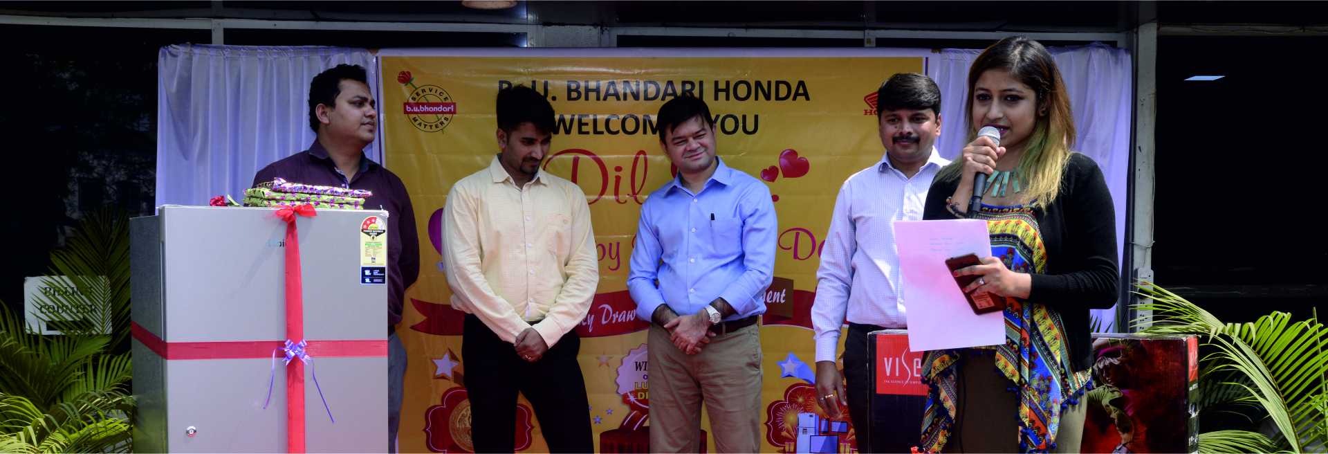 B.U.bhandari - lucky draw winner