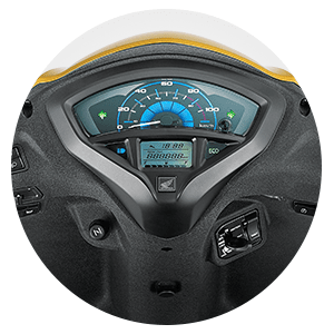 Honda Activa 5G - DIGITAL ANALOG METER WITH ECO SPEED INDICATOR