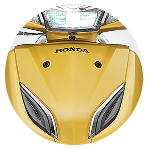 Honda Activa 5G - ELEGANT CHROME GARNISH AND PREMIUM 3D EMBLEM
