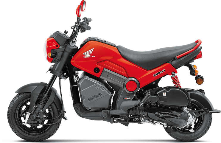 Honda Navi in Patriot red colour