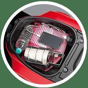 Honda Cliq Under Seat Storage with Mobile Charging Socket