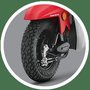 Block Pattern Tubeless Tyres - Honda Cliq