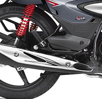chrome Finish Muffler - Shine Sp