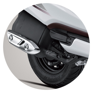 Chrome Metal Muffler Cover - Activa 5G
