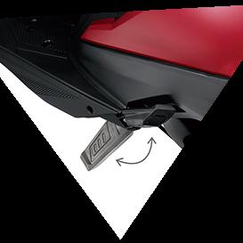 Honda DEO (BS-VI ) RETRACTABLE PILLION FOOT STEP
